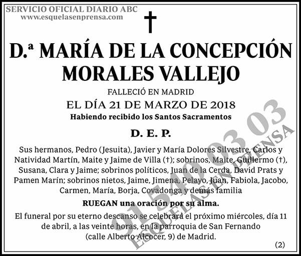 María de la Concepción Morales Vallejo